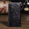 Hot!!!Genuine Leather Wallet 3D Floral Womens Wallets And Purses Brand Vintage Purse portefeuille femme carteras mujer YS1238
