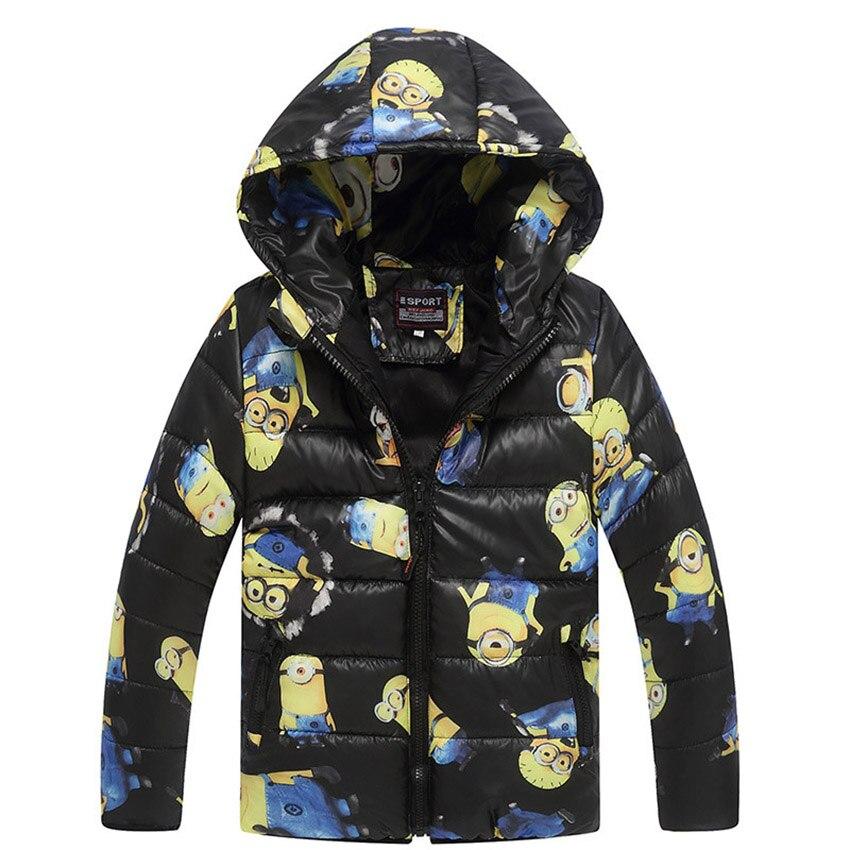 Minion Boy Płaszcze Z Kapturem Wysokiej Jakości Postacie Winter Boy - Ubrania dziecięce - Zdjęcie 3