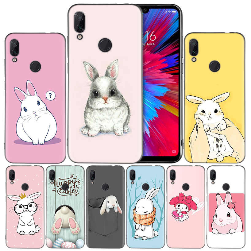 Черный силиконовый чехол с принтом любимого кролика для Xiaomi mi 9 8 Play A1 A2 Red mi Note 7 6 6A 5 Plus S2 GO Lite Pro Pocophone F1