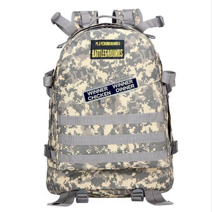 Playerunknown's Battlegrounds Pubg Winner Chicken Dinner Level 1-3 Instructor Backpack Multi-functional Backpack Multicolor
