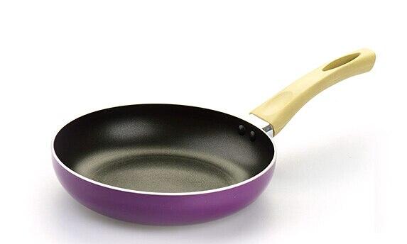 2017 Hot Sale 20cm non-stick frying pan home fashion eggplant shape milk pot Aluminum Cookware Gas Grill Pan 4 colours Available