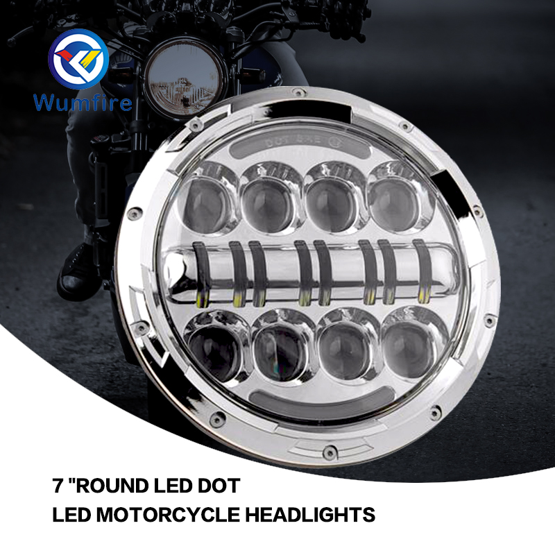7 LED Headlight For Harley Davidson Motorcycle Projector Daymaker LED Bulb Projector H4 H13 Motorcycle Headlight 7 led headlight for harley davidson motorcycle projector daymaker led bulb projector h4 h13 motorcycle headlight