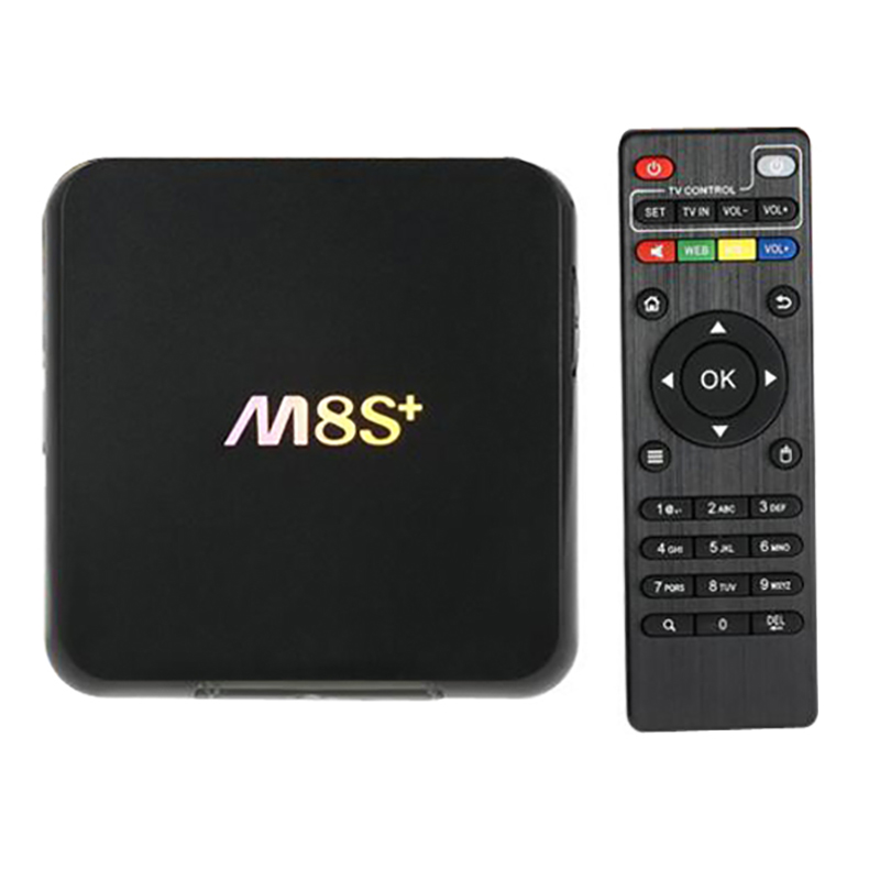 M8S+ Android 5.1 TV Box M8S Plus Amlogic S812 Quad Core 2GB/8GB 2.4G&5G Wifi H.265 HEVC Gigabit Lan Bluetooth 4.0 KODI Smart tv 5pcs android tv box tvip 410 412 box amlogic quad core 4gb android linux dual os smart tv box support h 265 airplay dlna 250 254