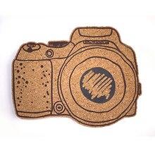 Пробковая доска с камерой, доска для объявлений, доска для сообщений, мягкая деревянная настенная доска, печатная пробковая деревянная доска с наклейкой