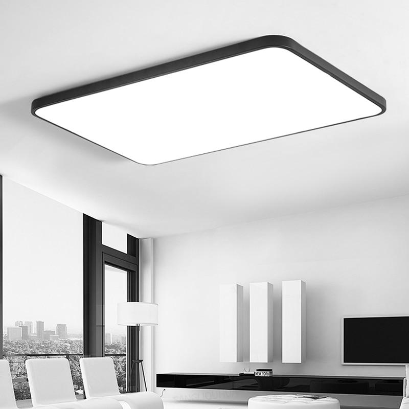 Modern Ceiling Lights LED Black White square Ultra-thin Practical 5cm Ceiling Lamp for Kitchen Living room Lamp Light Fixtures