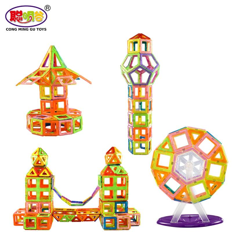 38/45/100/197 Pcs Magnetic Building Blocks Toys Construction Model DIY Magnetic Designer Educational Building Blocks for Kids mini 169pcs diy magnetic blocks toys construction model magnetic building blocks designer kids educational toys for children
