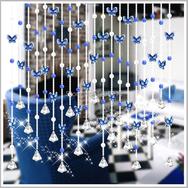 Aliexpress.com : Buy Free shipping Butterfly bead curtain hanging ...