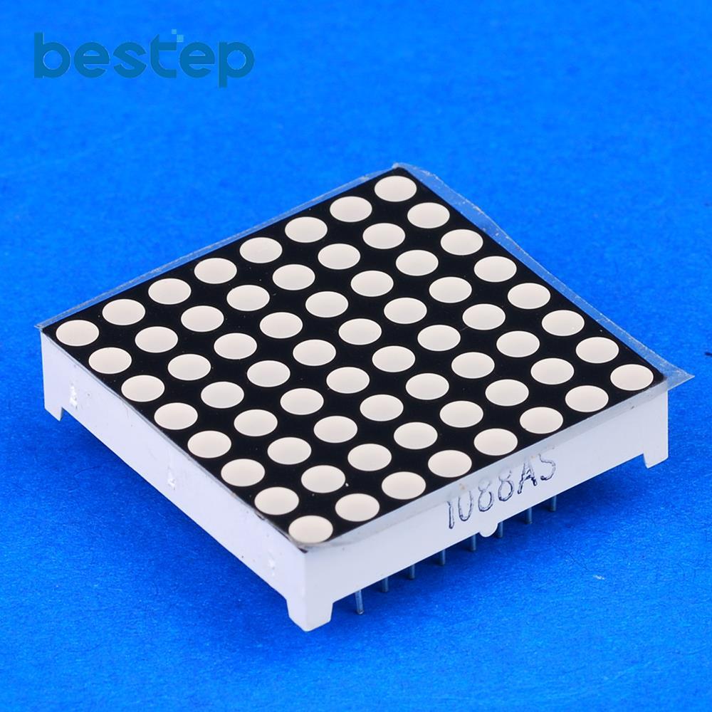 100PCS LED Dot Matrix Display 3mm 8 8 Red Common Cathode