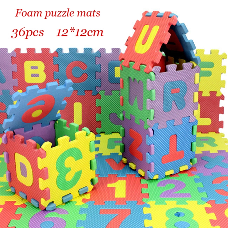 36pcs 12cm12cm environmentally eva foam numbersletters play mat floor mats baby carpet