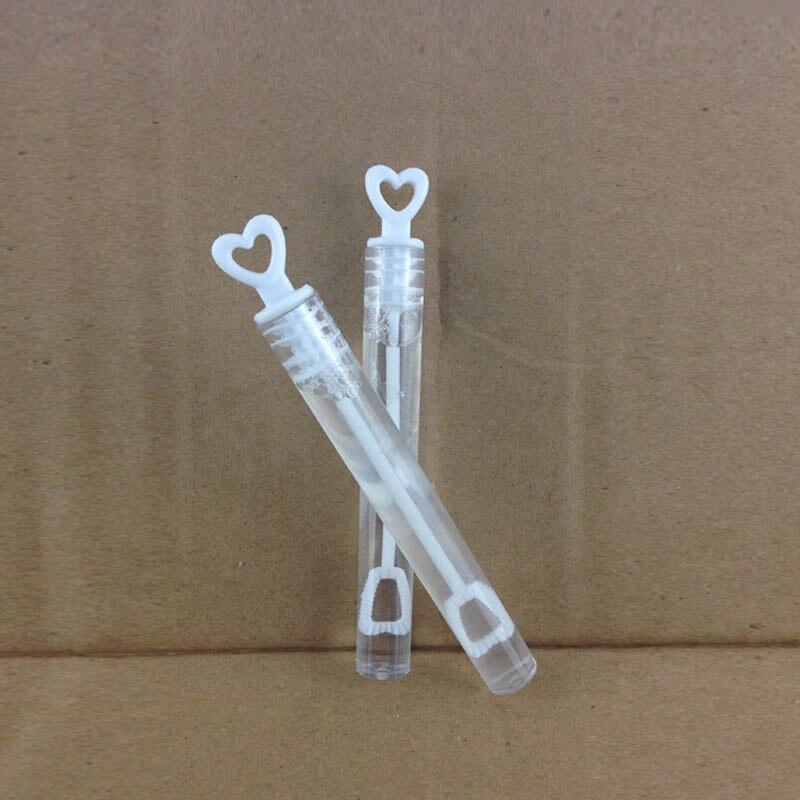 Empty Heart Shape Bride And Groom Wedding Bubble Bottles Soap Water