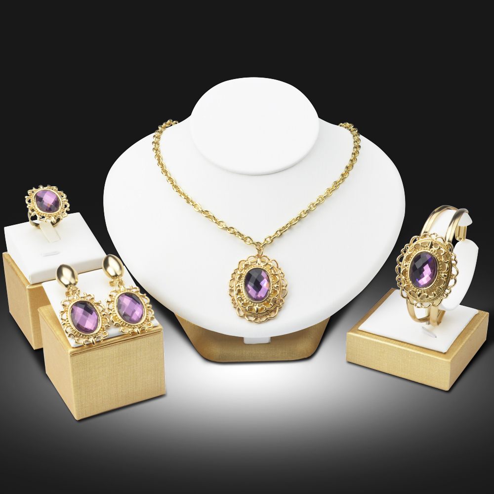 jewelry for trendy fashion jewelry set purple austrian pendant 2957