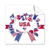 5 Pcs America Flag Landmark Statue Liberty Pattern Illustration Glasses Cleaning Cloth Phone Screen Cleaner Superfine