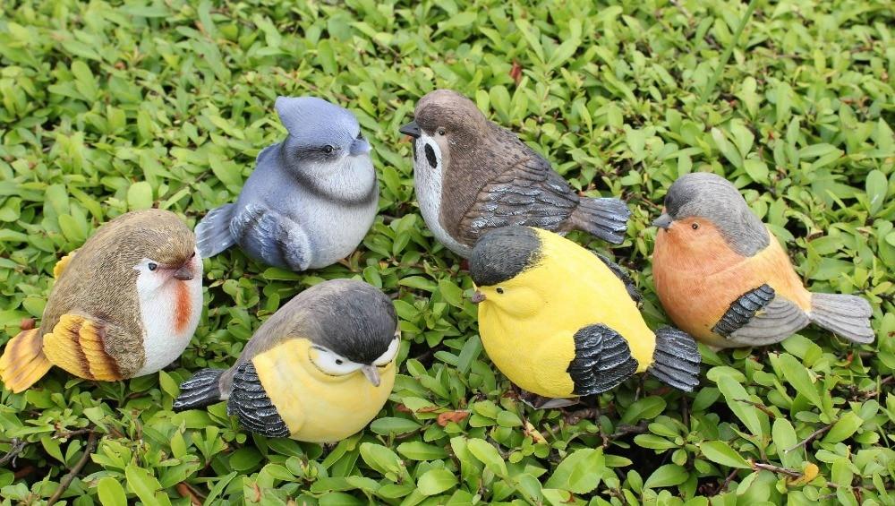 Duży Rozmiar 11 Cm Ogród Ozdobny żywicy Ptaki Rzeźby Domu