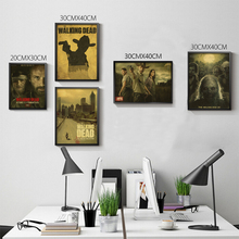 The Walking Dead anime TV Retro Poster Matte Kraft Paper Antique vintage Poster wallpaper Home Decora(China)
