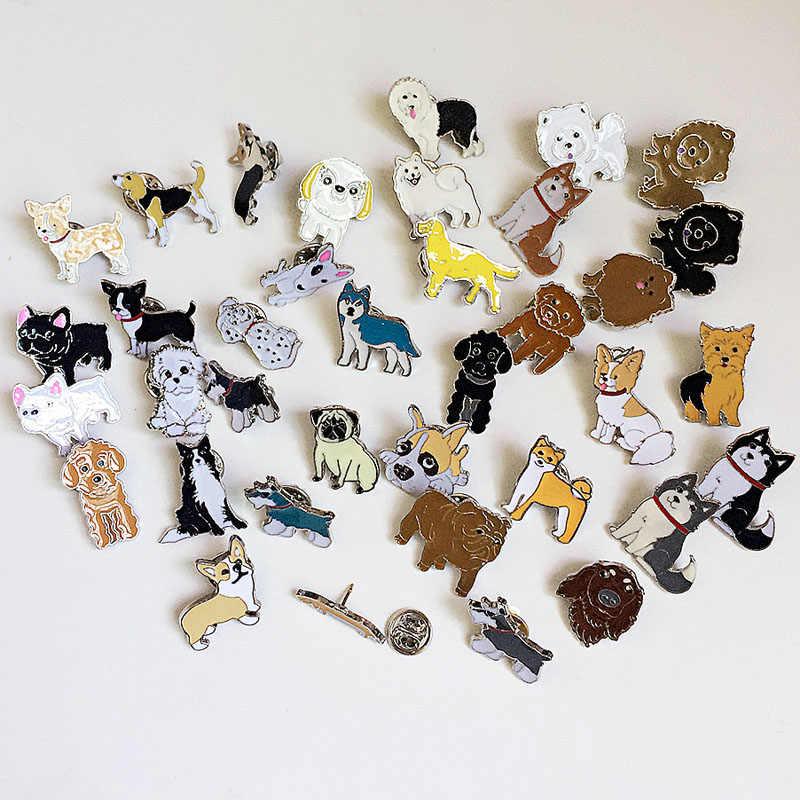 Dachshunds Corgi Dogs Броши Праздничная брошь значок Украшенные булавки ювелирные изделия мультфильм милые броши для мужчин и женщин модные подарки