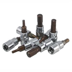 Image 2 - 1 pièce 37mm 1/4 Dr clé hexagonale Allen outils de prise de clé H2mm/2.5mm/3mm/4mm/5mm/6mm/7mm/8mm/10mm