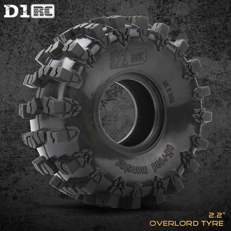 4 pièces D1RC Super Grip deux étages éponge RC voiture sur chenilles 2.2 pouces RC pneus de roue épais pour échelle axiale 1:8