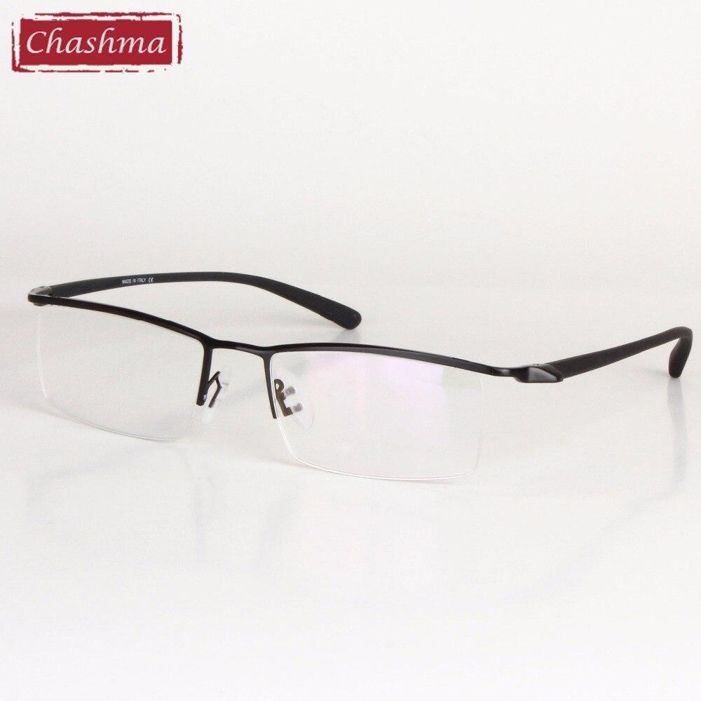 Chashma marca diseñador hombres aleación de titanio gafas marco ...
