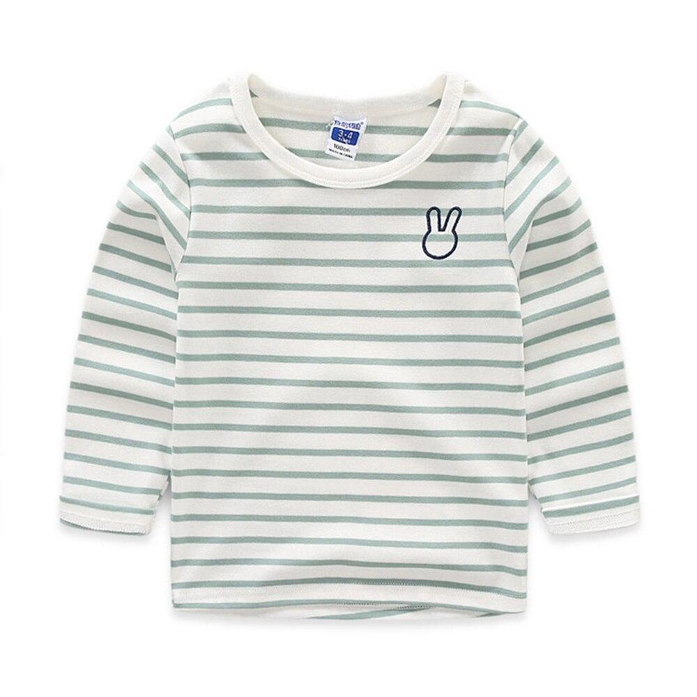 Babyinstar-Baby-Kids-Clothing-Stripe-Cotton-Boys-Girls-T-Shirt-Cute-Rarabbit-Pattern-Long-Sleeves-Children-Autumn-Clothes-4