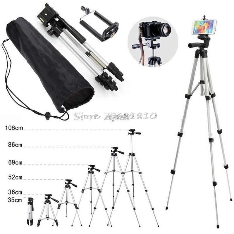 Professionnel Caméra Trépied Stand Support Pour iPhone Samsung Téléphone portable + Sac Z09 Drop ship