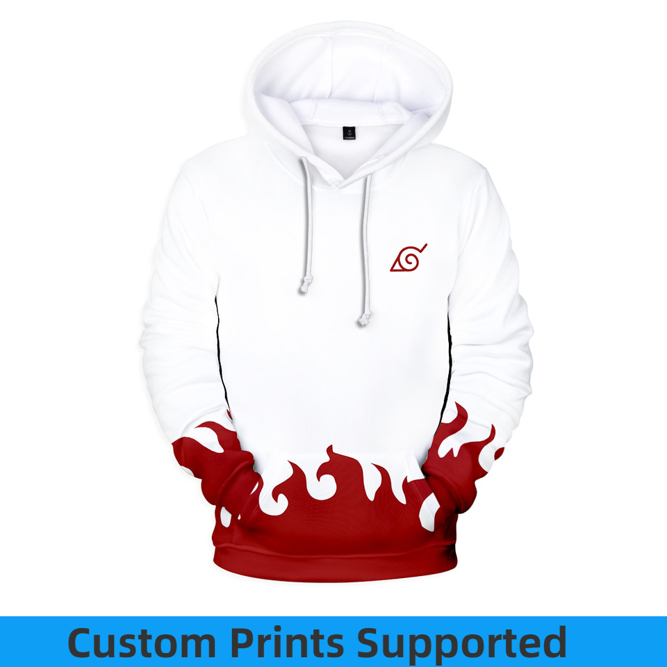 2018 Naruto Anime Hoodies 3D Men Sudadera Sasuke Autumn Harajuku Kakashi 3D Cartoon Print Men's Hoodies Sweatshirt Custom