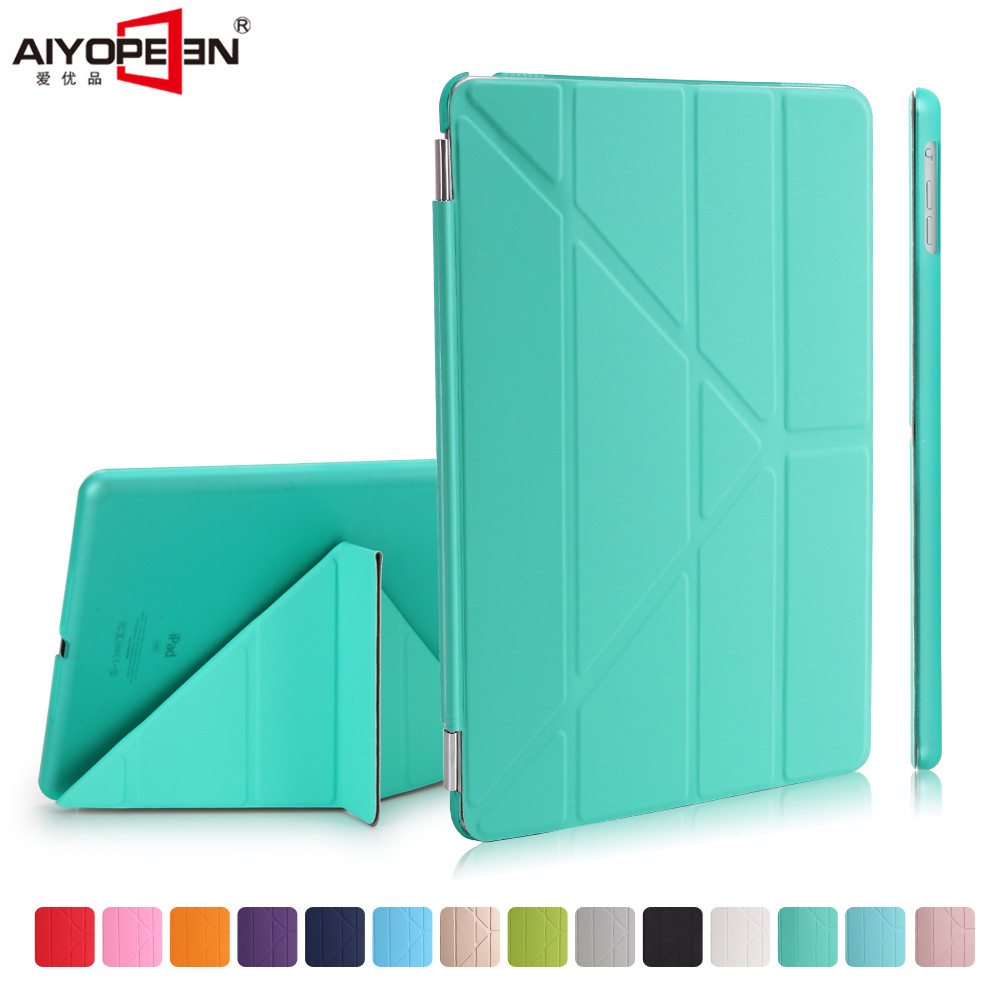 for new ipad 9.7 case 2017 release,aiyopeen pu leather smart wake up sleep flip stand with matte transparent pc back cover for ipad air2 case pu leather smart wake up sleep solid pc back cover magnetic flip stand origimi brand aiyopeen with gift
