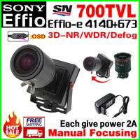 2017NewStyle Manual Focusing 2 8mm 12mm Lens 1 3 Sony CCD Effio 4140 Real 700TVL Analog