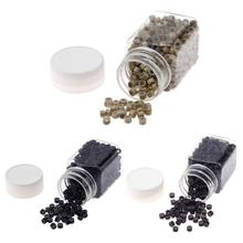 Crimped hair styles reviews online shopping crimped hair styles 500pcs micro rings micro crimp beads micro bead hair silicone ringlinks beads for pmusecretfo Gallery