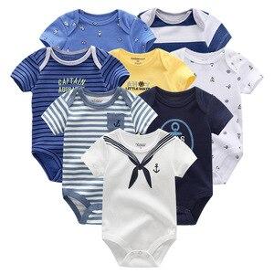 Image 2 - 8 шт./лот унисекс Одежда для маленьких мальчиков, платье для девочек, боди, одежда для девочек, одежда для малышей с единорогом, хлопковая одежда для маленьких девочек, детская одежда