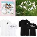 Seventeen17 короткими рукавами Футболки хлопок moletom семнадцать футболки k-pop футболка балахон kpop альбом любовное письмо 17 карат