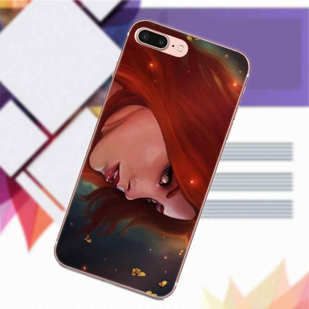 Мягкий чехол для телефона чехол для LG G2 G3 мини дух G4 G5 G6 K4 K7 K8 K10 2017 V10 V20 V30 Русалочка Ариэль рыжие волосы