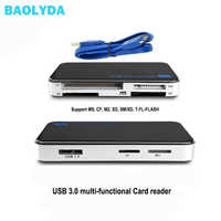 Baolyda USB 3.0 OTG Micro SD Kartenleser High-Speed-All in One SD/Micro SD/TF/CF /MS Compact Flash Smart Memory Karte Adapter