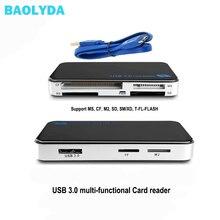 Baolyda usb 3.0 otg micro sd leitor de cartão de alta velocidade tudo em um sd/micro sd/tf/cf/ms compacto flash adaptador de cartão de memória inteligente