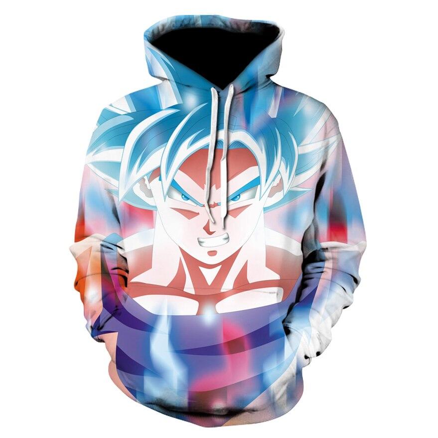 US $11.01 42% OFF|3D Dragon Ball Super Anime Ultra Instinct Super Saiyan Goku Printed Men's Dragonball Long Sleeve Hoodie Dragon Ball Z Sweatshirt in