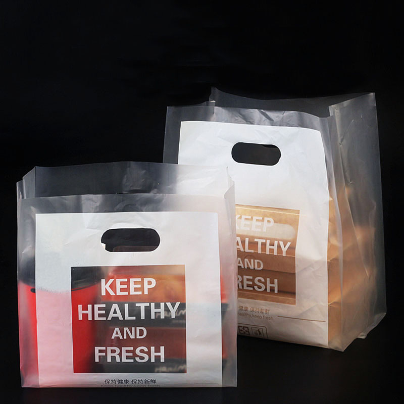 50pcs <font><b>Plastic</b></font> <font><b>Bag</b></font> For <font><b>Gifts</b></font> Carry <font><b>Bag</b></font> Shopping <font><b>Bags</b></font> Food Packaging <font><b>with</b></font> <font><b>Handle</b></font> Party Supplies <font><b>Plastic</b></font> Cake Transparent <font><b>Bags</b></font> image