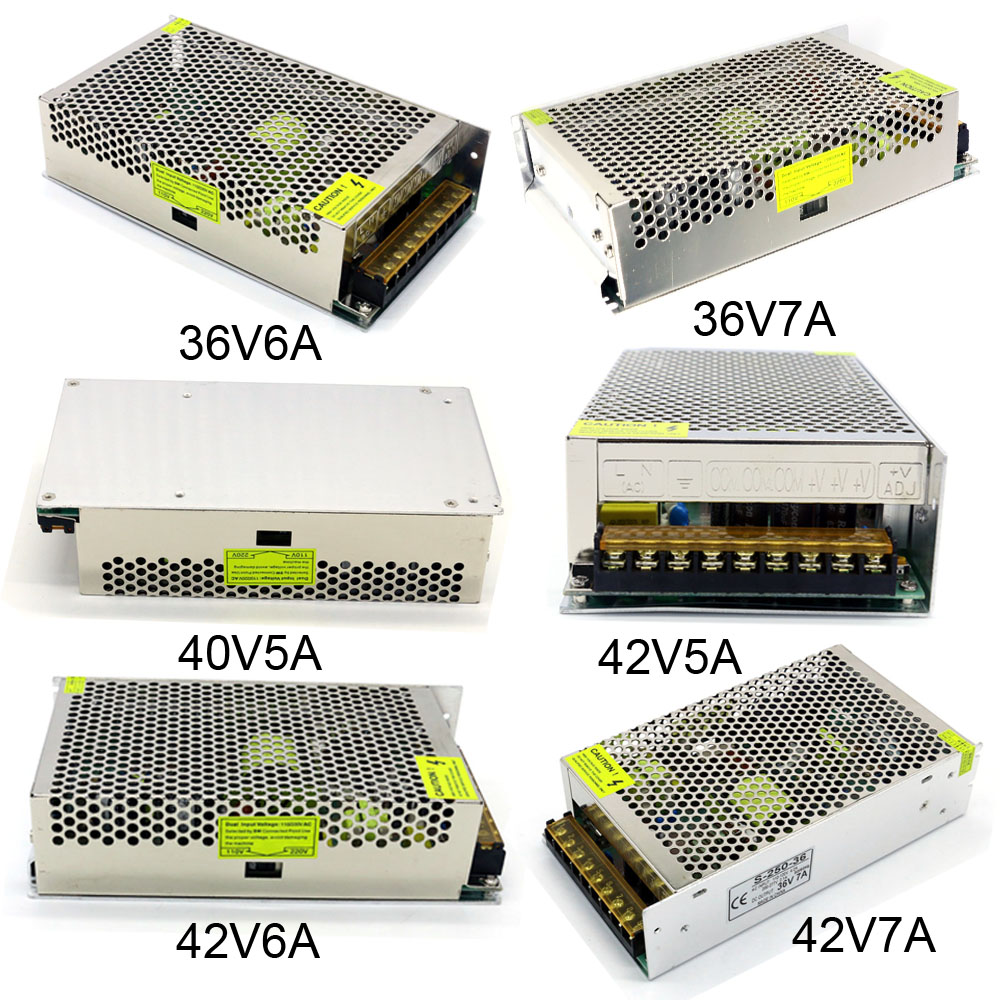 Switching Power Supply Ac 110V 220V to Dc 36V 40V 42V 5A 6A 7A 200W 250W 300W Motor Voltage Regulation Driver Power Supply 1500w 36v dc adjustable switching power supply 0 36v 41 6a 1500w 110v 220v ac to dc 36v switching power supply