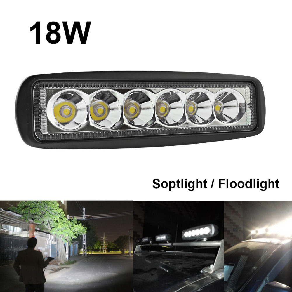 1550lm mini 6 inch 18w 12v led work light bar off road car worklight 1550lm mini 6 inch 18w 12v led work light bar off road car worklight driving lamp for auto offroad boating hunting fishing in light barwork light from aloadofball Image collections