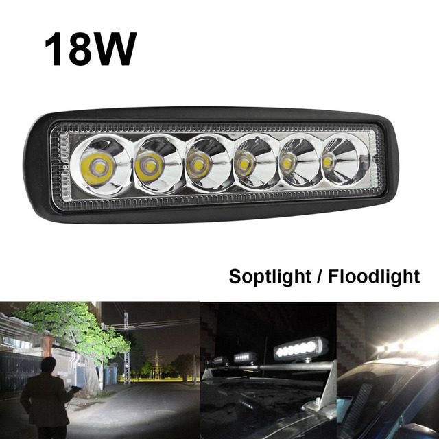 1550LM Mini 6 Inch 18W 12V LED Work Light Bar Off road Car Worklight ...