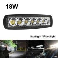 1550LM Mini 6 Inch 18W 12V LED Work Light Bar Off Road Car Worklight Driving Lamp