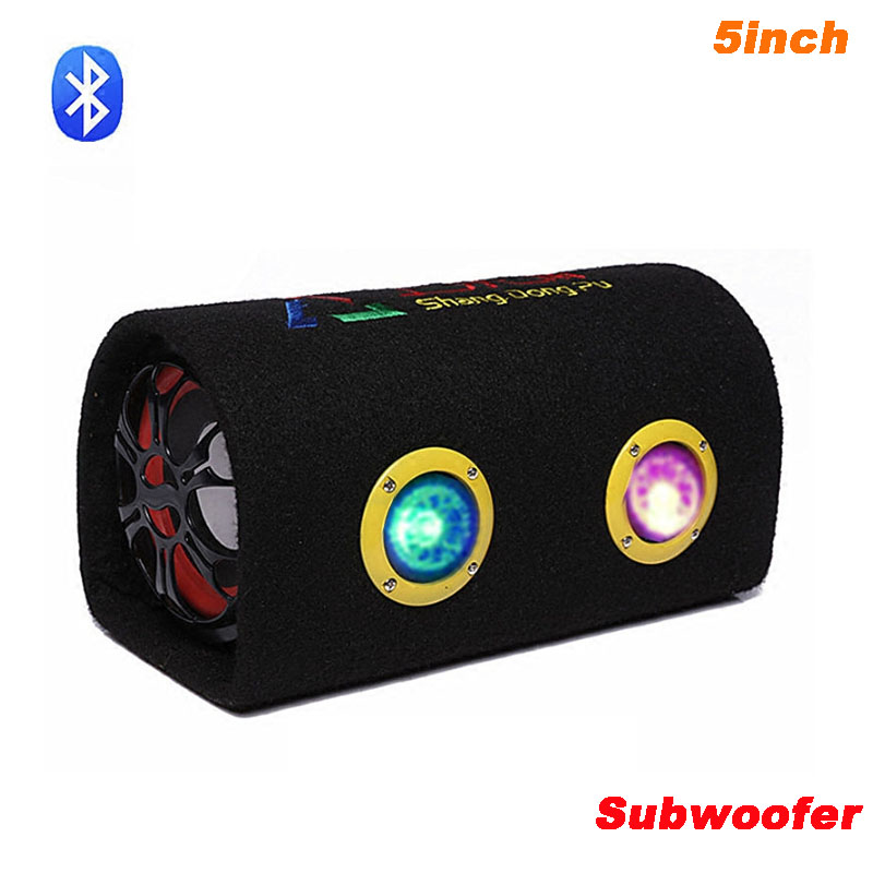 12V 220V Car Audio Active Subwoofer Motorcycle Bluetooth Speaker Box 5 inch HiFi KTV Home Computer Bass Speakers Bass image