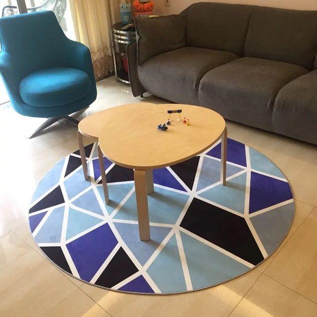 Blaue Mittelmeer Geometrische Teppich Wohnzimmer Tisch Sofa ...
