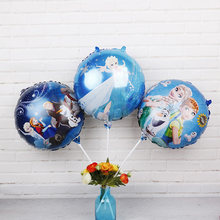 18inch Disney Princess Foil Balloons 1pc Frozen Elsa Anna Helium Globos Baby Shower Birthday Party Decorations Kids Love Toys(China)