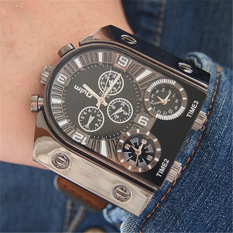 OULM 2018 Originele Fashion Designer Merk Quartz Horloges Heren 3 - Herenhorloges - Foto 6