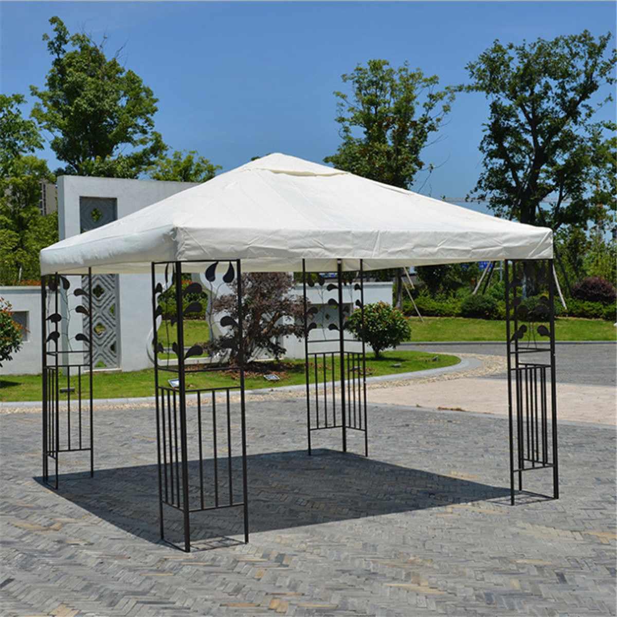 3x3 M 300D toile Camping randonnée soleil abri extérieur tente auvent Top couverture de toit Patio soleil ombre tissu ombre abri remplacer la partie