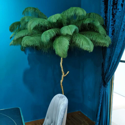 Ostrich Feather Resin Floor Lamp