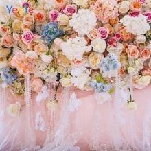 Yeele Vinyl Colored Flowers Wedding Ceremony Pearl Photography Background Love Scene Photographic Backdrop For Photo Studio