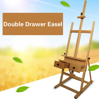 Double Drawer Easel Chevalet En Bois Artist Painting Stand Watercolor Oil Paint Easel Stand Atril Madera Art Supplies for Artist metal easel for artist painting sketch weeding easel stand drawing table box oil paint laptop accessories painting art supplies