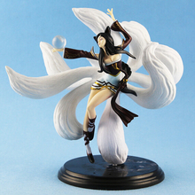 New  the nine-tailed fox Ahri pvc action figure collection model toy 25cm collection juguetes kids toy doll free shipping