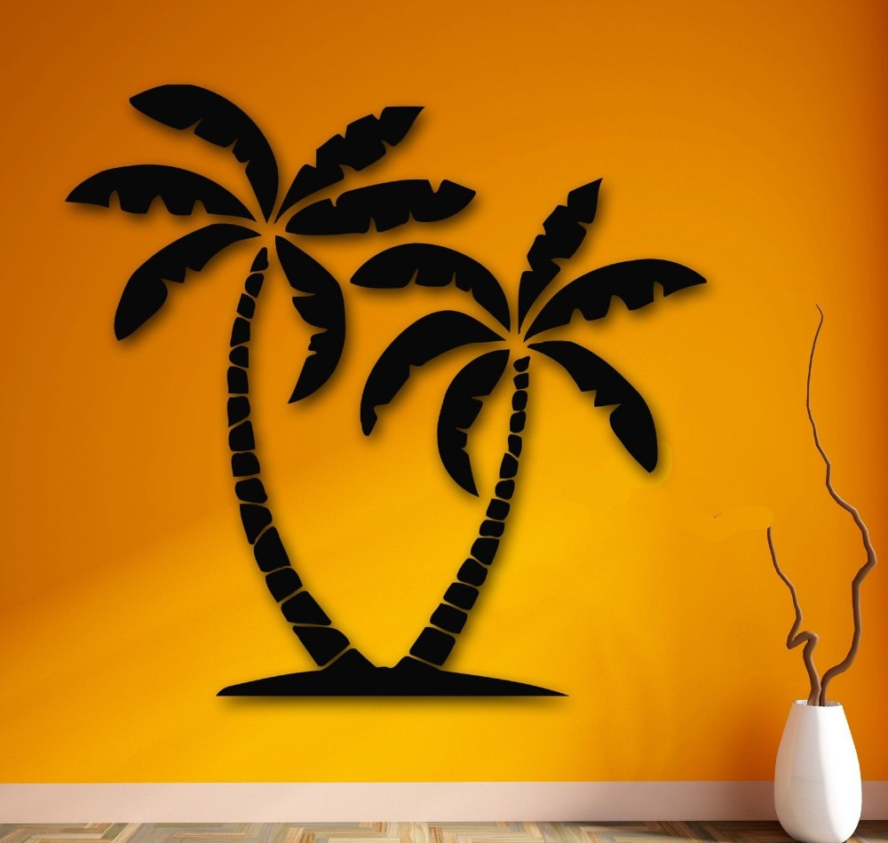Wall Stickers Vinyl Decal Palm Desert Mirage Tropical Relax Decor-in ...