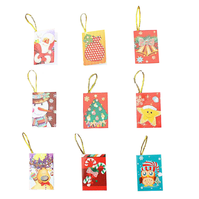 20pcs xmas hanging card decorations for christmas trees hot decoration new greeting cards christmas cards xn926